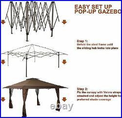 13'x13' Gazebo Canopy UV Block Sun Shade Outdoor Patio Tent Pop-up Garden Events