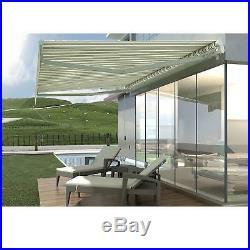 13'x8' Patio Awning Outdoor Deck Manual Retractable Shade Sun Shelter Canopy