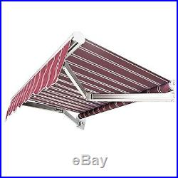 13FT×10FT Retractable Aluminum Patio Deck Awning Cover, Canopy, Sunshade