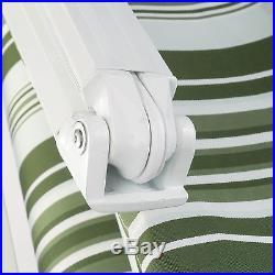 13X8 Door Window Awning Waterproof Sun Shade Shelter Canopy Manual Retractable