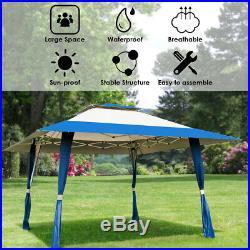 13x13 Folding Gazebo Canopy Patio Outdoor Tent Beach Party Shade Shelter Blue