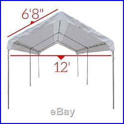14 X 20 Heavy Duty 12mil Valance Replacement Canopy Tarp Carport Cover -White