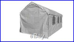 14 X 20 Heavy Duty 5PC Valance Canopy Enclosure Carport Cover With Windows -White
