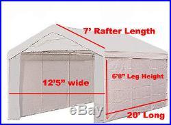 14 X 20 Heavy Duty TAN 5PC Valance Canopy Enclosure Tarp Carport Cover, No Frame
