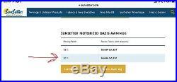 16' SunSetter Oasis Freestanding Retractable Motorized Awning, SunSetter Awnings