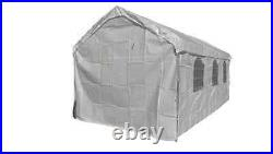 16 X 20 Heavy Duty 5PC Valance Canopy Enclosure Cover With Windows -White No Frame