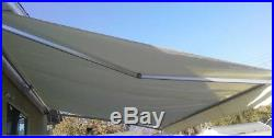 16ft×10ft Patio Cover Yard Awning Manual Retractable Sun Shade Shelter STRONG