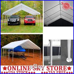 18 x 27 ft. Double Carport Canopy Outdoor Portable Garage Large Car Boat Tent