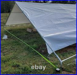 18x40' Canopy Fittings for 1-5/8pipes No Poles/Legs Boat RV Garage Carport