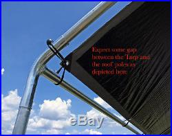 18x40' Carport Canopy Fittings Kit 1-3/8 RV Boat Tent Shade witho Leg & Roof Pipes
