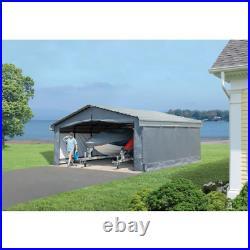 20 Ft. X 20 Ft. Fabric Carport Enclosure Kit Lightweight