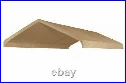 20 X 20 Canopy Top Replacement Tarp For 18 x 20 High Peak Frame Carport -Tan