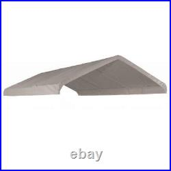 20 X 30 Canopy Top Replacement Tarp For 18 x 30 High Peak Frame Carport -White