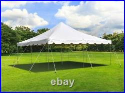 20' x 20' Weekender Standard Canopy Pole Tent White Party, Event, Backyard
