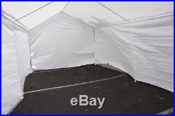 20'x10' Complete set Garage Carport withSide Wall & Frames Car Shelter Canopy Tent