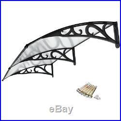 2X Door Window Outdoor Awning Canopy Patio Cover UV Rain Snow Protection 40x80