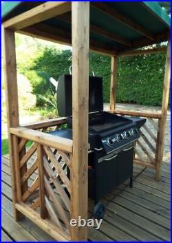 2m x 1.7m BBQ Shelter Weather Canopy Shelter Gazebo Large Patio Arbour Pergola
