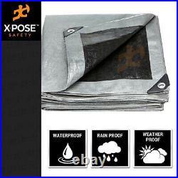 30 x 50 Heavy Duty Silver/Black Poly Tarp 10 mil Cover Tent RV Boat Tarpaulin
