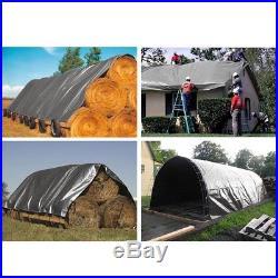 30x50 10mil Heavy Duty Canopy Poly Tarp Reinforced Tent Car Boat Cover Tarpaulin