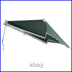 3m x 2.5m Green Retractable Awning Patio Garden Canopy Manual Garden Shelter
