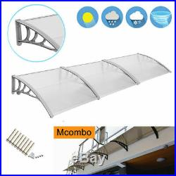 40×120 Window Awning Outdoor Front Door Awning Patio Cover Garden Canopy 4012