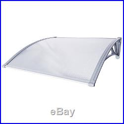 40'' x 240'' Outdoor Polycarbonate Front Door Window Awning Patio Cover Canopy