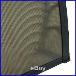 40x 80 Door Window Canopy Patio Awning DIY Overhead Door Clear Decorator