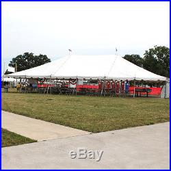 40x60 White Vinyl Classic Pole Tent for Wedding Outdoor Event Party Catering