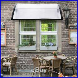 47''/59''/94''/118'' Door Window Awning Polycarbonate Patio Sun Cover Canopy