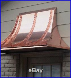 6 ft. Aluminum window or door awning with decorative scrolls