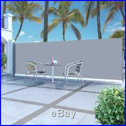 63x197 Sunshade Patio Retractable Wall Side Awning Privacy Wind Screen Divider
