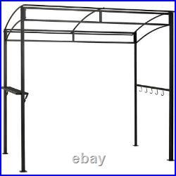 7'x4.5' Grill Gazebo Outdoor Patio Garden BBQ Canopy Shelter Storage Hook Beige