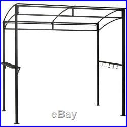 7'x4.5' Grill Gazebo Outdoor Patio Garden BBQ Canopy Shelter Storage Hook Brown