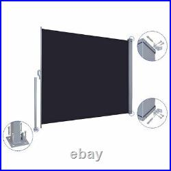 71x118 Sunshade Patio Retractable Wall Side Awning Privacy Wind Screen Divider