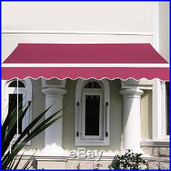 8.2'X6.5' Manual Patio Canopy Retractable Deck Awning Sunshade Shelter 5 Color