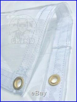 8' x 10' Clear Glass Tarp 35 MIL Smooth Vinyl Patio Enclosure USA Made
