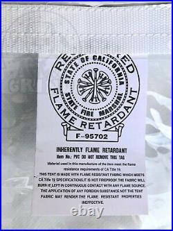 8' x 10' Clear Tarp 24 MIL Smooth Vinyl Patio Enclosure Fire Retardant USA Made