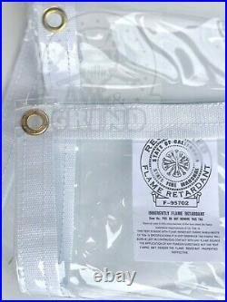 8' x 16' Clear Tarp 24 MIL Smooth Vinyl Patio Enclosure Fire Retardant USA Made