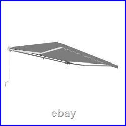 ALEKO 10 x 8 Feet Retractable Home Patio Canopy Awning, Grey Color