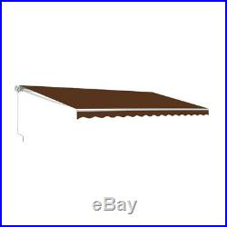 ALEKO 12 X 10 Feet Retractable Motorized Home Patio Canopy Awning, Brown Color