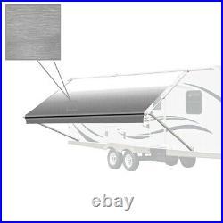 ALEKO 15'X8' Retractable RV or Home Patio Canopy Awning Grey Fade Color