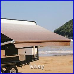 ALEKO 21'X8' Retractable Motorized RV or Home Patio Awning, White to Brown Fade