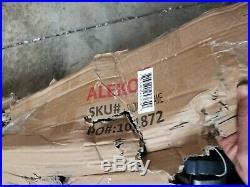 ALEKO Half Cassette Retractable Motorized Awning 10x8 ft Multi-Striped Green