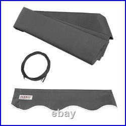 ALEKO Motorized Black Frame Retractable Home Patio Canopy Awning 12'x10' Grey