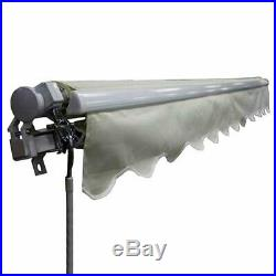 ALEKO Motorized Retractable Patio Awning 16 X 10 Ft Ivory Color