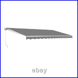ALEKO Refurbished 13 X 10 Ft Retractable Home Patio Canopy Awning Grey Color