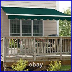 ALEKO Refurbished Outdoor 20X10 Ft Retractable Motorized Patio Awning Green