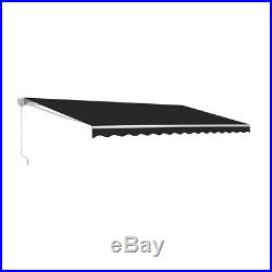 ALEKO Retractable Motorized Home Patio Canopy Awning 20'x10' Black Color