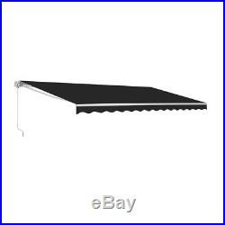 ALEKO Retractable Patio Awning 12 X 10 Ft Deck Sunshade Black