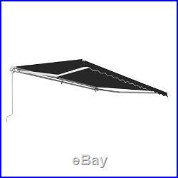 ALEKO Retractable Patio Awning 13 X 10 Ft Deck Sunshade Canopy